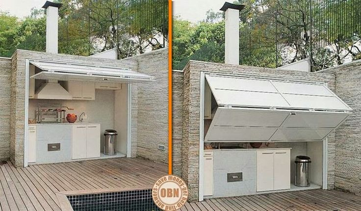 Enclosed outdoor kitchen!