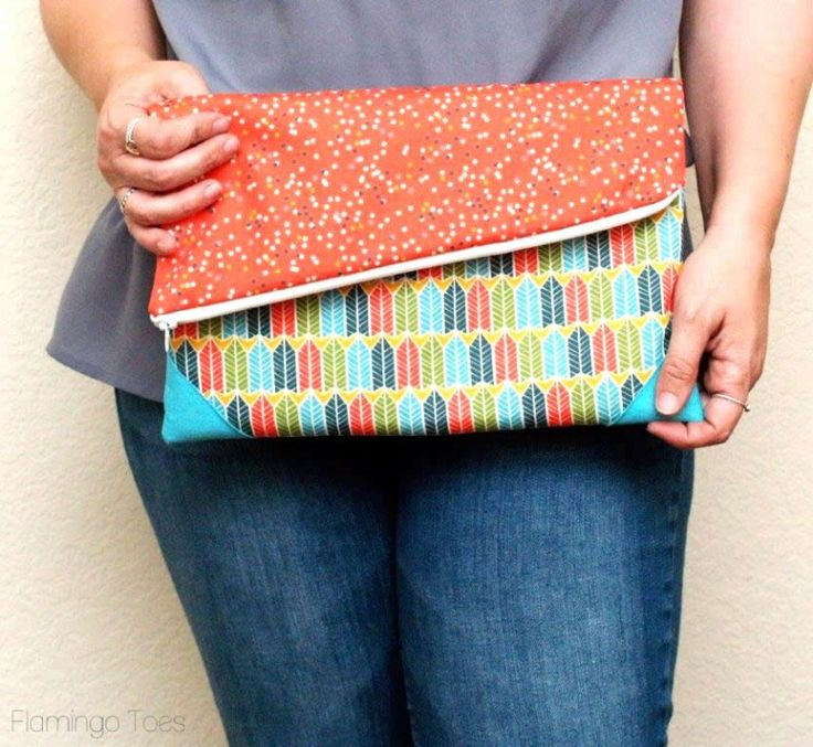 DIY Casual Fold-Over Clutch