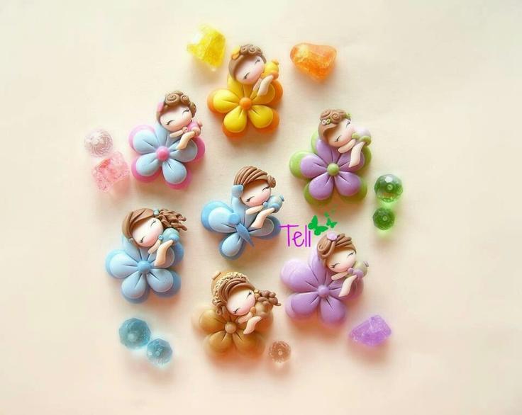 Flower fairies #polymer #clay