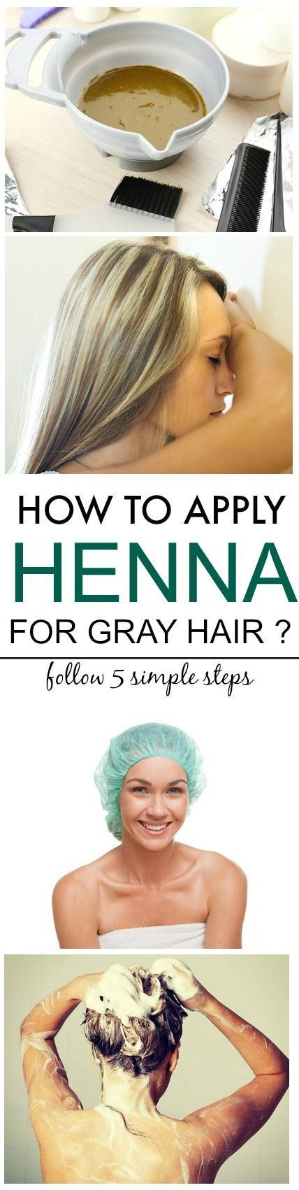If you are feeling annoyed with grey hair, you can easily cover them using a natural remedy i.e., henna. Here are 5 basic steps to apply henna for grey hair
