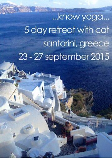 Yoga in Santorini island, Greece - selected by www.oiamansion.com