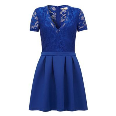 Yumi Lace pleated skater dress- at Debenhams.com