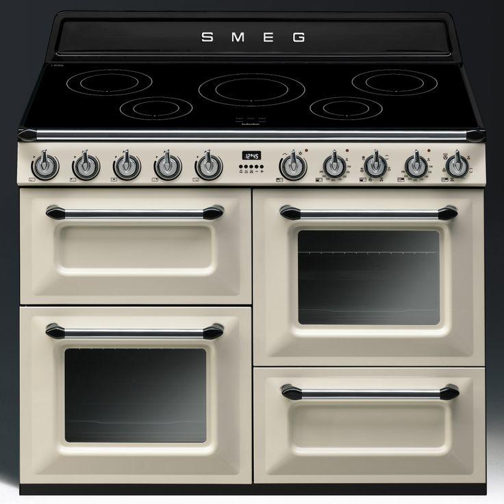 Smeg TR4110IP - 110cm Victoria Induction Range Cooker, Cream