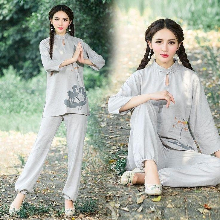 Chinese Kung Fu Tai Chi Uniform Women Martial Arts Clothing WuShu Taiji Suit New #Unbranded