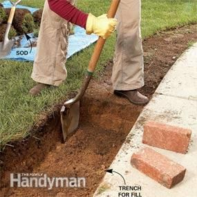 Use Brick Borders for Path Edging | The Family Handyman