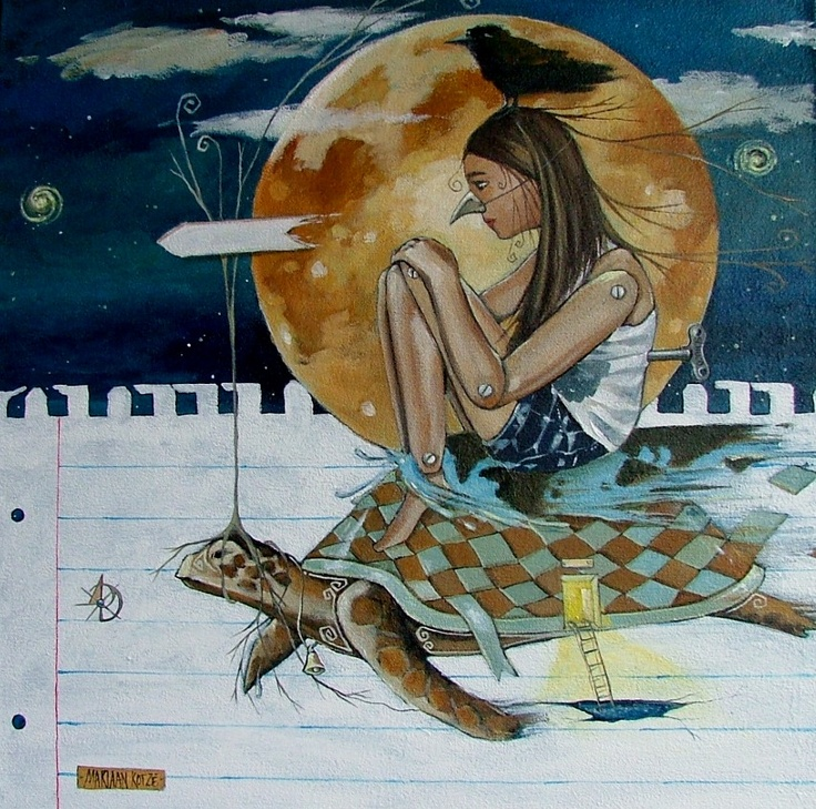 Acrylic painting by Mariaan Kotze