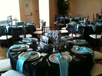 tiffany blue. silver and black wedding theme | havent danced that hard, and had so much fun since my senior prom ...