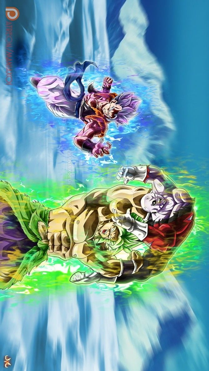 Gogeta y Jiren vs Broly | Kaioken | Dragon ball, Dragon ...
