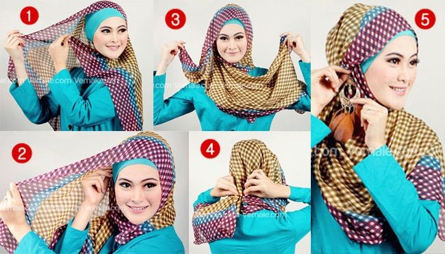 Gorgeous Hijab Tutorial In 4 Steps