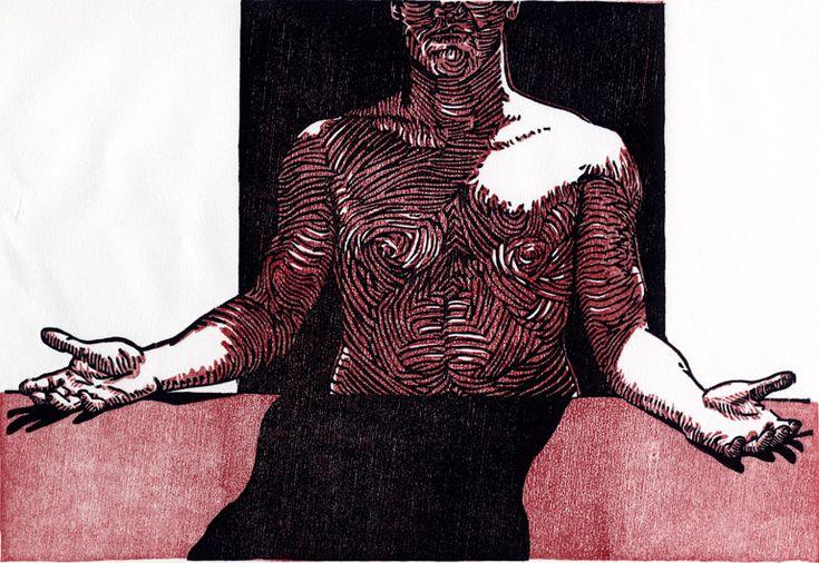 Elemental Woodcut - Tyrus Clutter 2002