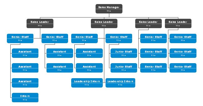 Try This Sales Division Org Chart Template To Nicely Structure Your Sales Team Based On Many