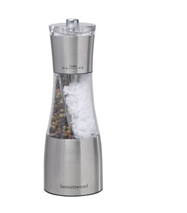 The 2-in-1 grinder that grinds both salt and pepper!