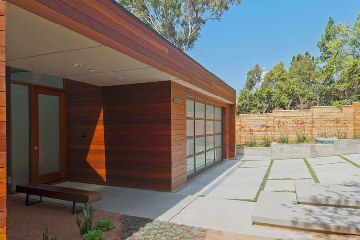 Exterior:Architecture. Brown Exterior Garage Rustic House Design With Wood Modern Exterior Tile For House Flooring Walls Installation Floor ...