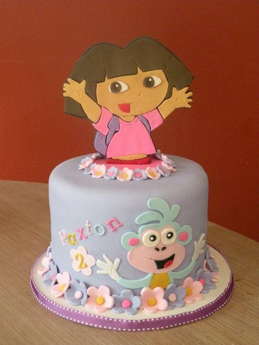 Dora & Boots topper cake - by cakechickdani @ CakesDecor.com - cake decorating website