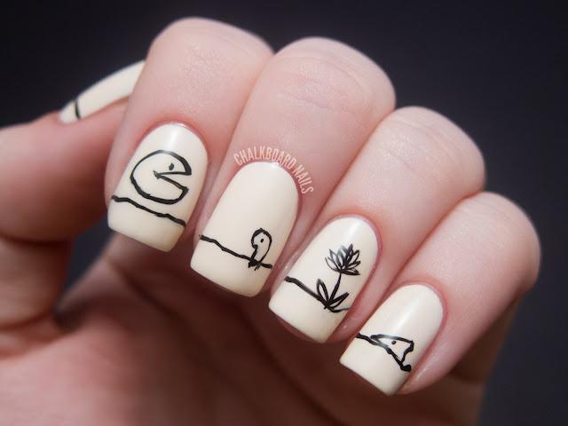 Chalkboard Nails The missing piece.: Illustrations Art, Bookish Nails, Cute Nails, Chalkboards Nails, Books Illustrations, Pieces Nails, Nails Art Design, 12 Favorite, Shel Silverstein