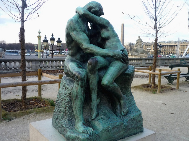 Rodin's Sculpture Le Baisir --in Prof.Emerson's lecture in Victoria College (Gabriel's Inferno) by Sylvain Reynard  The Kiss (Le Baiser) @Tuileries 1 by dominotic, via Flickr