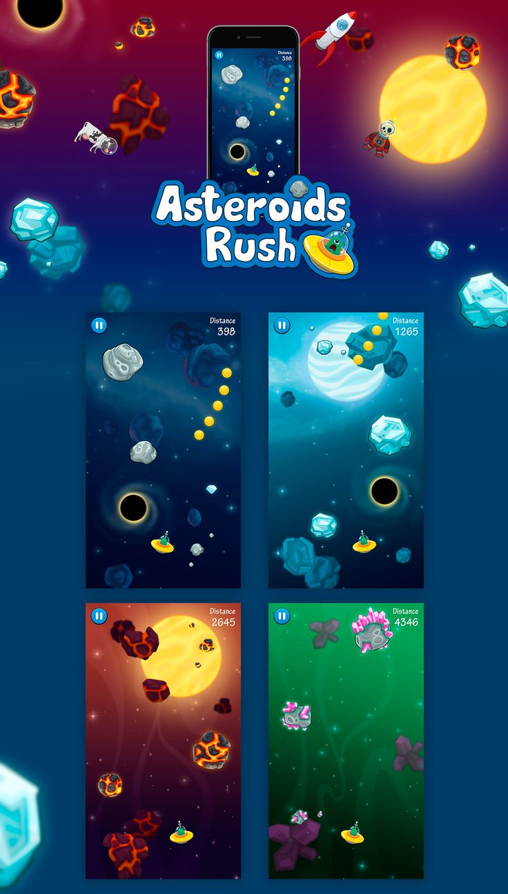 Asteroids Rush! on Behance