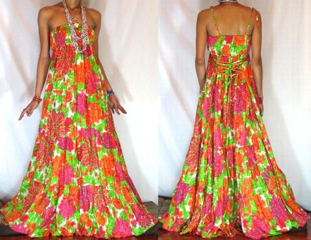 $105.00 Gorgeous Bohemian Flower Dress by BlondellaLife on Etsy