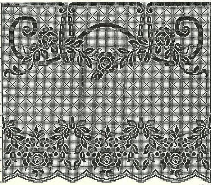 World crochet: Curtain 24