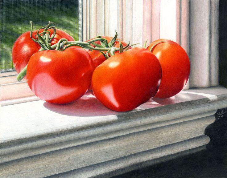 Window Sill Tomatoes - Marilyn McNeil