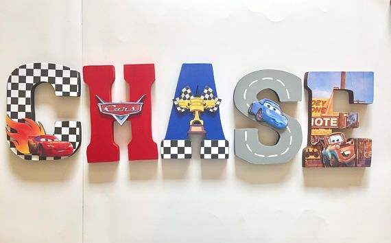 Cars Letters  Home Decor  Party Decorations  Wood letters