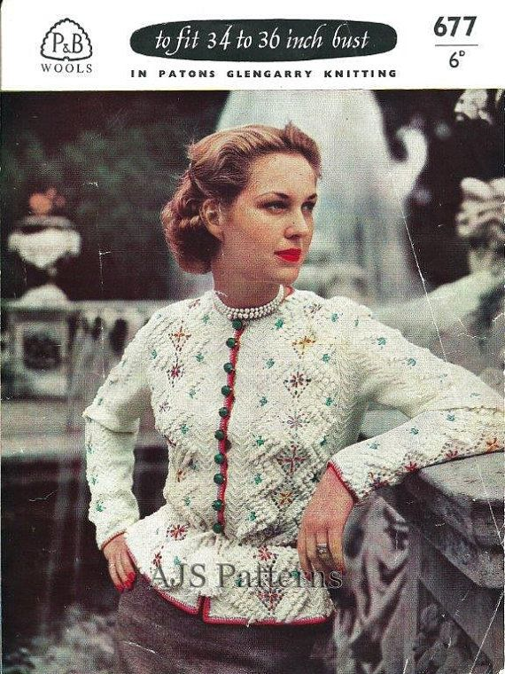 PDF Knitting Pattern for a 1940's Retro by TheKnittingSheep, £2.50