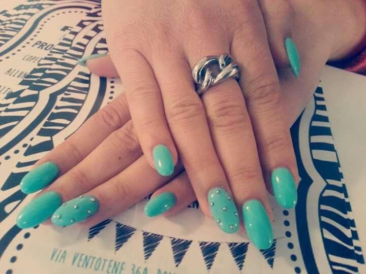 #tiffany#verdeacqua#borchie#nails#unghie#2015#fixel#mani#zebra#anello#tonde