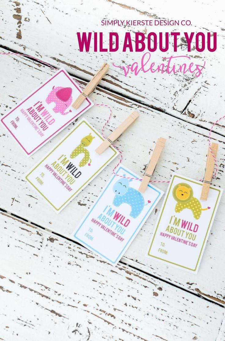 Wild About You Valentine | simplykierste.com #valentinesday #preschoolvalentines...