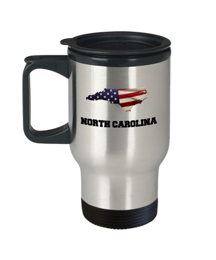 I Love North Carolina Travel Coffee Mugs Cup Sets Mug Tea Cups 14 Oz Gift Ideas State Idea
