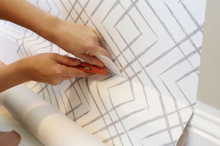 The How-To on Peel and Stick Wallpaper | It's temporary so you can peel it off easily and re-stick it! | Bower Power Blog