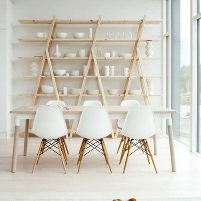 DIY A-Frame Ladder Shelves