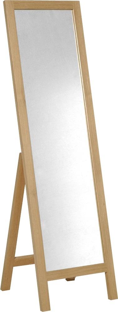 Sovereign speil i solid eik. Finnes også i  mørkbeiset. Dimensjoner: B46 x H159 x D46,5cm. Kr. 1825,-