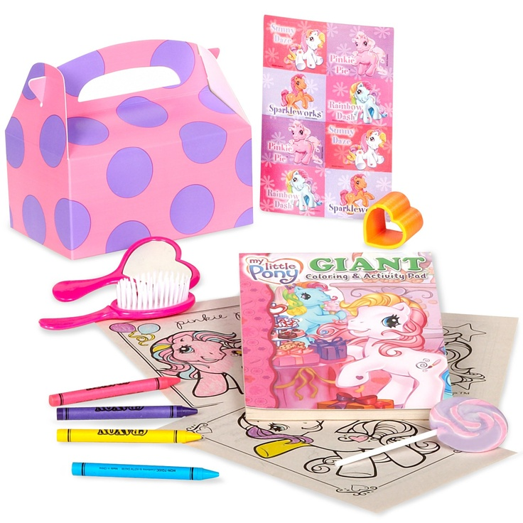 My Little Pony Party Favor Kit - Could totally DIY from the dollar store.