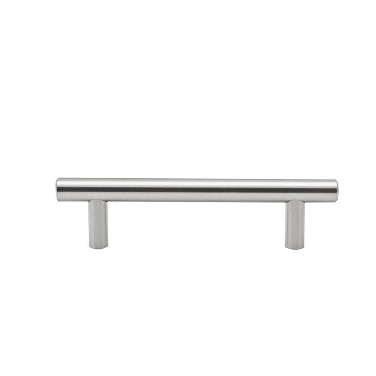Handles on the other bedroom wardrobes.  T Handle Ikonic Brushed Nickel 96mm Pk10 1949928