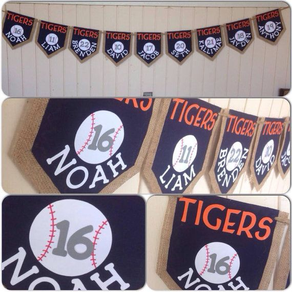 Tigers little league banner  on Etsy, $10.00