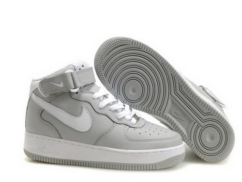 Cheap Air Force One High Tops Men Grey White Shoes
