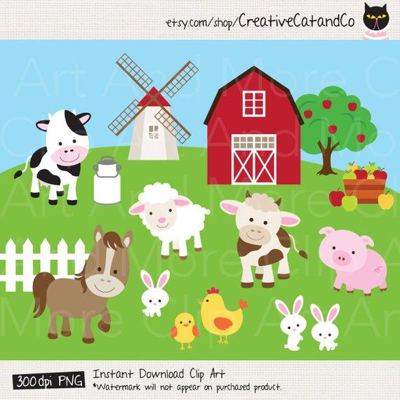 30+ Farm animals clipart png ideas in 2021
