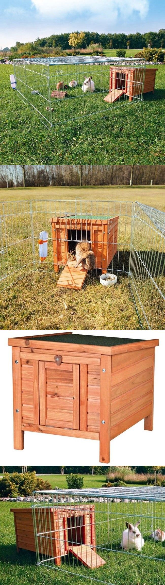 Cages and Enclosure 63108: Guinea Pig Supplies Large Rabbit Hutch Bunny Cage Wire With Outdoor Run Nest Box -> BUY IT NOW ONLY: $113.98 on eBay!