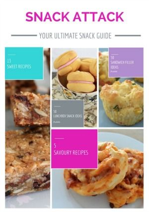 Stuck for snack ideas? We're here to help with our collection of 18 sweet and savoury snack recipes as well as 50 lunch box and 50 sandwich filler ideas!