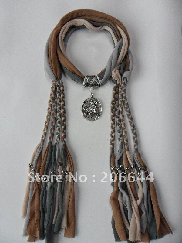Fashion accessories pendant scarves necklace scarves novel cotton scarf mixed colors