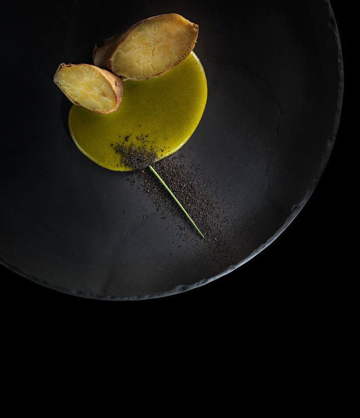 ''Food Is All About Transformation'' Alex Atala | Yatzer Sweet Potato with yerba mate béarnaise. D.O.M.: Rediscovering Brazilian Ingredients. Alex Atala. Photo © PHAIDON.