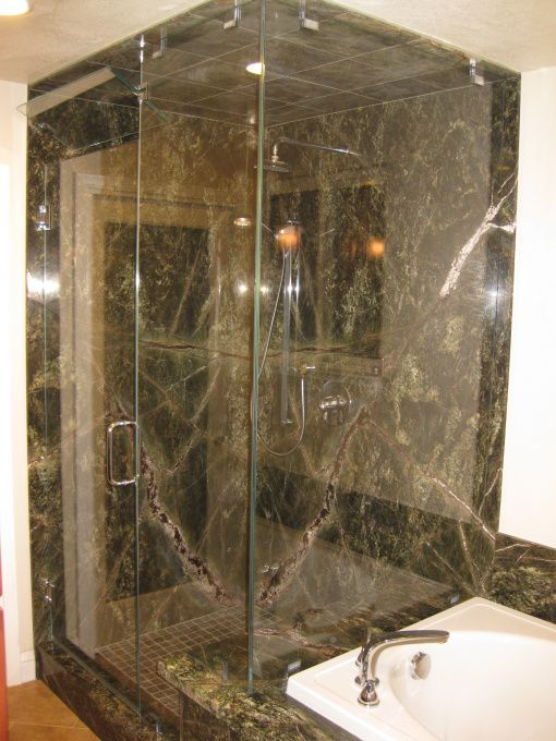 Rainforest Marble Bathroom | In My New Rain Forest Bathroom, Turned A Poor  Layout Bathroom