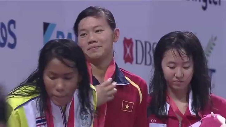 Nguyễn Thị Ánh Viên - 1st Victory Ceremony ( GOLD MEDAL ) | 28th SEA Gam...