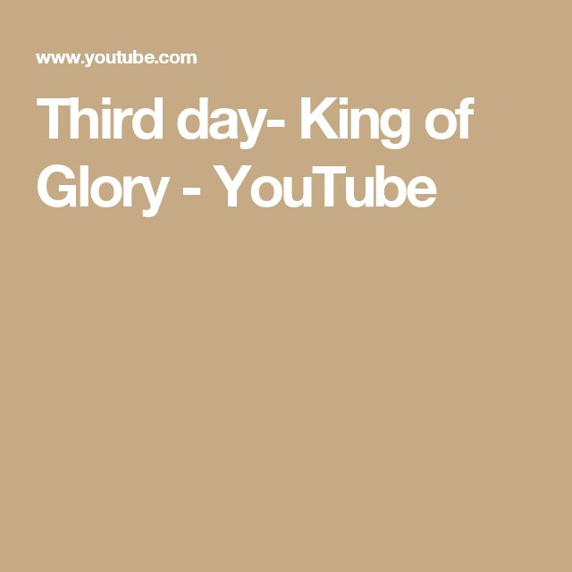 Mejores 25 imgenes de products i love en pinterest fundas de third day king of glory youtube malvernweather Image collections