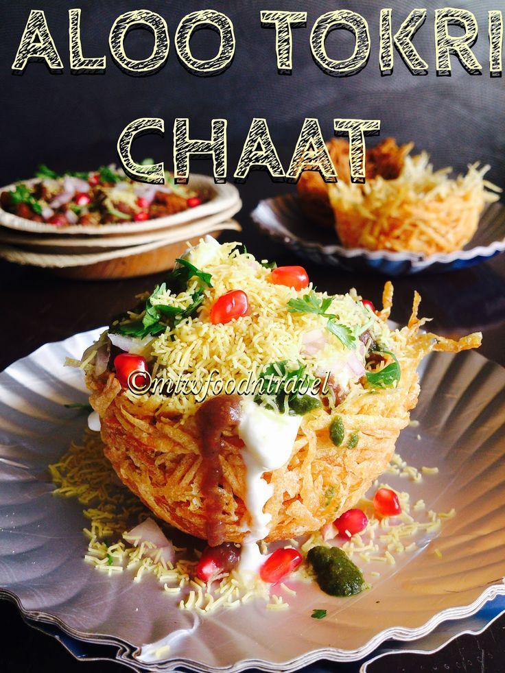 aloo tokri chaat, aloo tokri chaat recipe, how to make the potato basket, chaats of India, famous lucknow chaat,