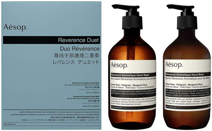 Aesop Reverence Hand Wash Hand Balm Duet Hand Balm The Balm Hand Care