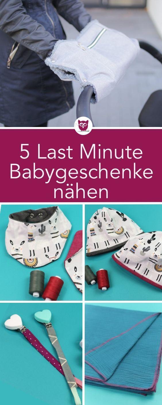 5 Last Minute Baby Geschenke nähen: Schnullerkette, mamatuch, Mütze mit kostenlosem Schnittmuster, Lätzchen mit kostenlosem Schnittmuster, Kinderwagenmuff mit Reißversclusstasche #handmade