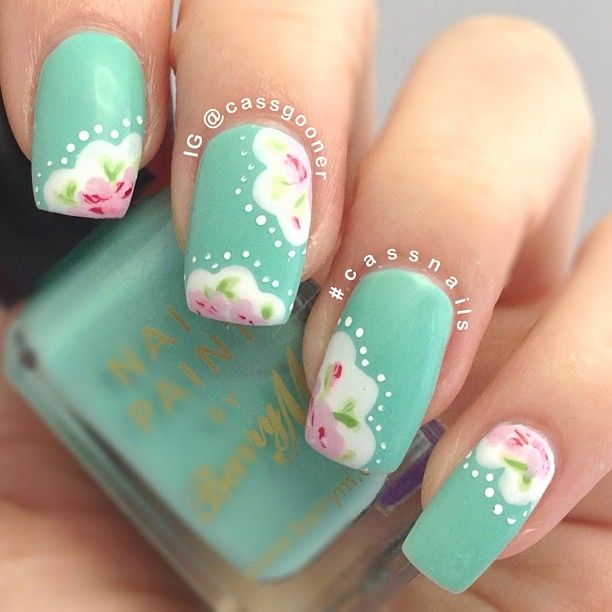 @Cassie G Ranson Cath Kidston nail art