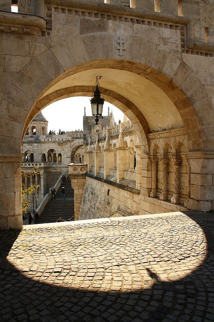 Fisherman's Bastion through an arch, Budapest