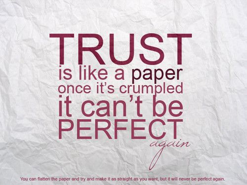 About trust